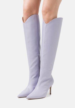 POINTY SHAFT BOOTS - Overknee laarzen - lilac