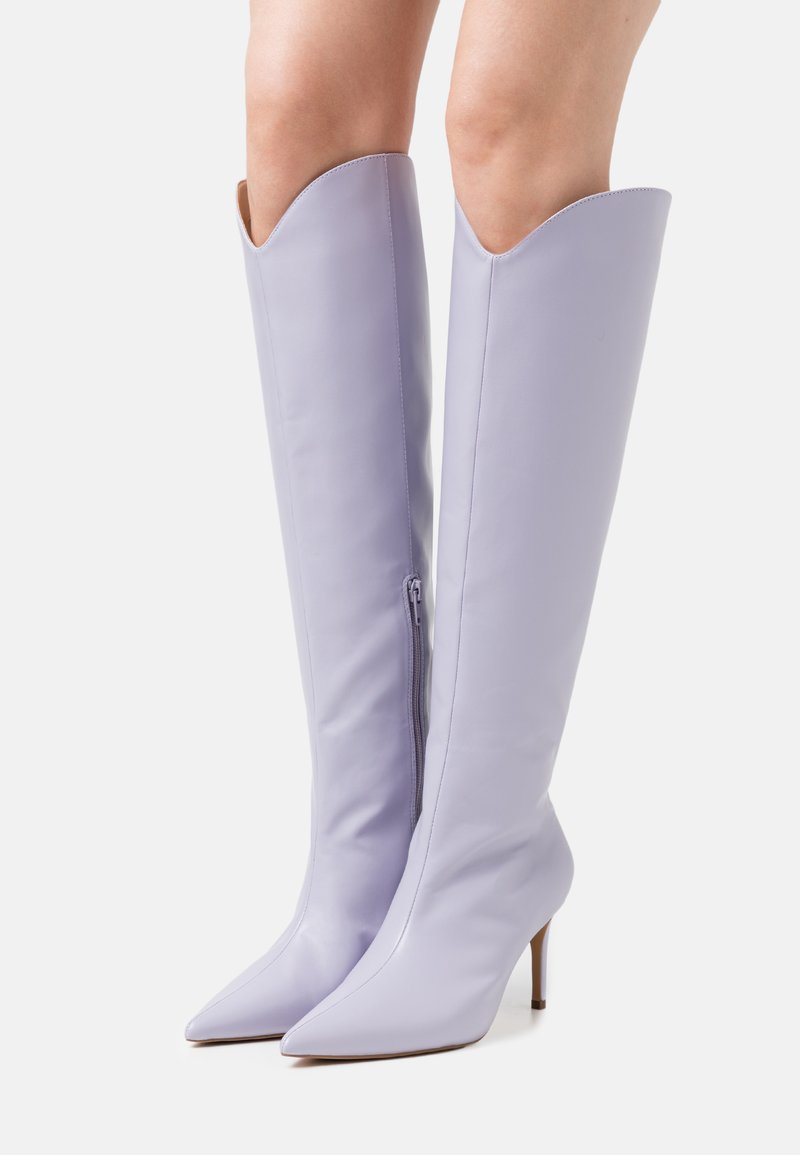 NA-KD - POINTY SHAFT BOOTS - Over-the-knee boots - lilac
