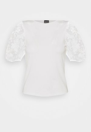 POLLY TOP - Print T-shirt - offwhite