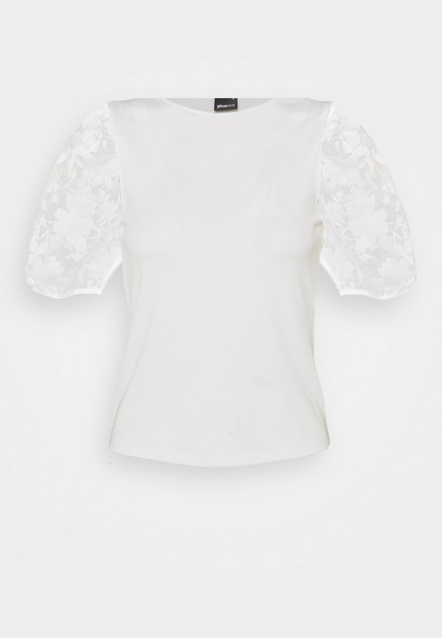 POLLY TOP - T-shirt con stampa - offwhite