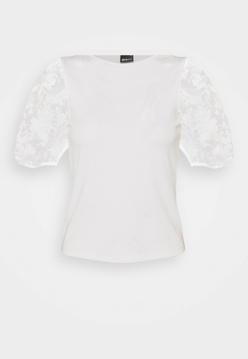Gina Tricot - POLLY TOP - Print T-shirt - offwhite