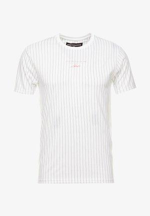 FITTED BLACK FINE STRIPE - Print T-shirt - black