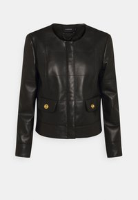 Coach - QUILTED FEMININE JACKET - Giacca di pelle - black - 0