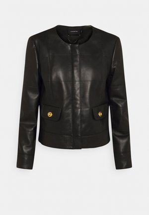 QUILTED FEMININE JACKET - Leather jacket - black