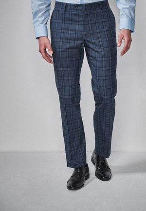 SKINNY FIT CHECK SUIT TROUSERS - Pantaloni eleganti - blue