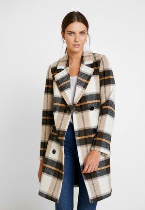 CHECK COAT - Frakker / klassisk frakker - beige/camel/brown
