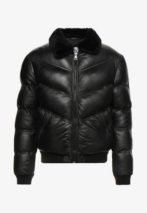 STORM - Veste en cuir - black