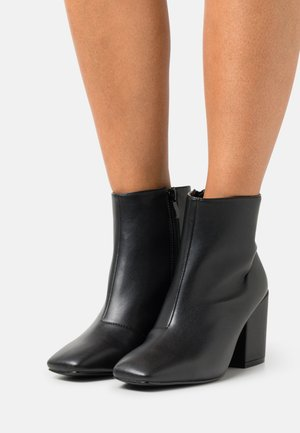 WIDE FIT HOLLIS - Ankle boots - black