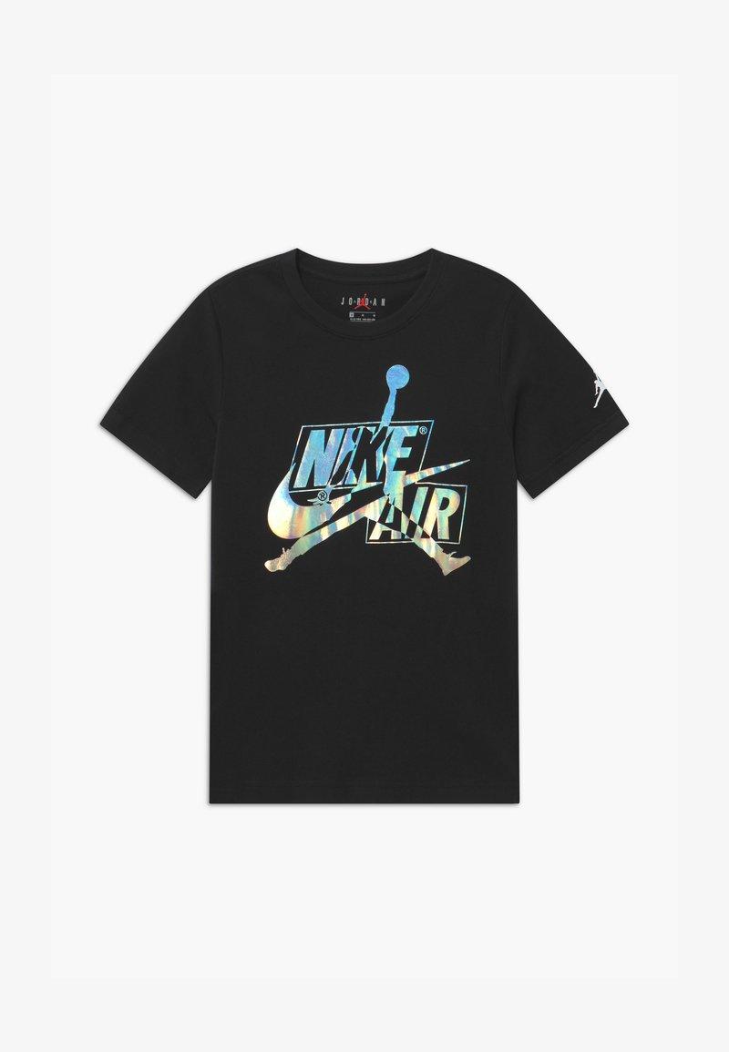Jordan - JUMPMAN CLASSICS IRIDSCNT  - T-shirt print - black
