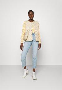 Selected Femme - SLFANNA CREW NECK TEE - Long sleeved top - citrus/snow white - 1