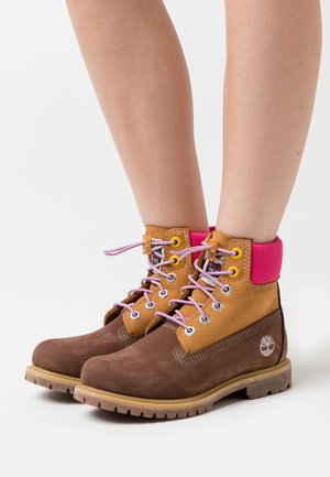 PREMIUM BOOT  - Lace-up ankle boots - dark brown