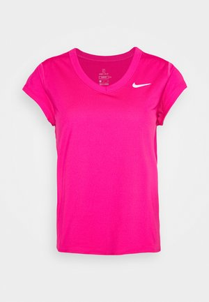 DRY - Basic T-shirt - vivid pink/white