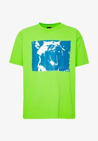 Obey Clothing - MIXED UP - Triko s potiskem - bright lime - 3