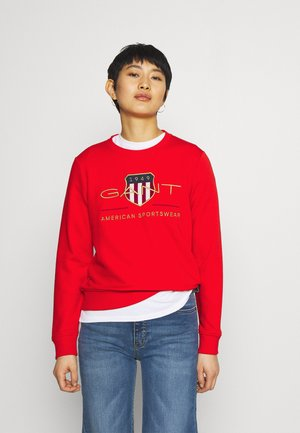 ARCHIVE SHIELD - Sweatshirt - lava red
