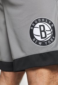 Nike Performance - NBA BROOKLYN NETS SWINGMAN SHORT - Sports shorts - dark steel grey/black/white - 5