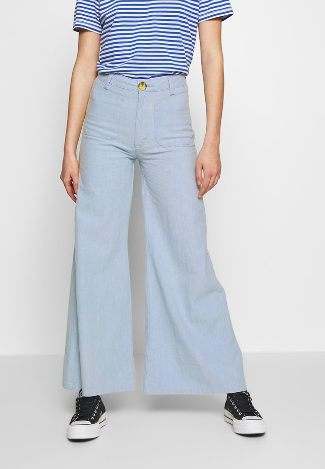 SUPER SAILOR RAMIE PANT - Trousers - sky blue