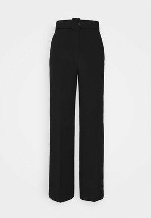 LEONARDO - Trousers - black