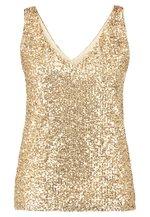 Wallis Petite GOLD SEQUIN CAMI - Bluser - gold