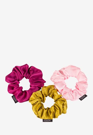 SCRUNCHIES SATIN PINK SET - Hair styling accessory - pink