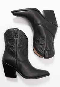 Bronx - NEW KOLE - Cowboy/biker ankle boot - black - 3