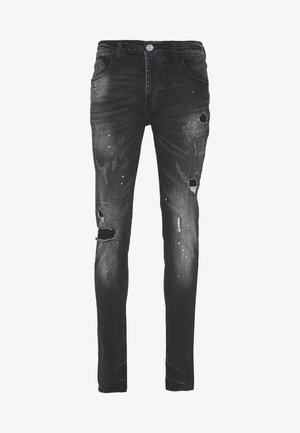LIMER CARROT - Jeansy Slim Fit - grey/black