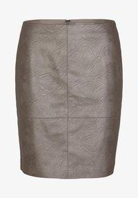 comma casual identity - MIT METALLIC-EFFEKT - A-line skirt - dark grey - 4