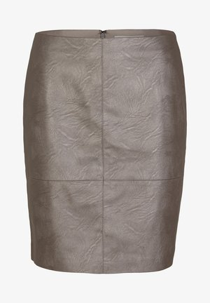 MIT METALLIC-EFFEKT - A-line skirt - dark grey