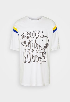 LEVI'S® X PEANUTS FOOTBALL TEE UNISEX - T-Shirt print - marshmallow
