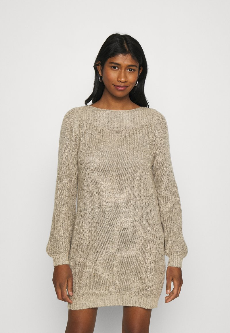 JDY - JDYWHITNEY MEGAN BOAT DRESS - Jumper dress - beige