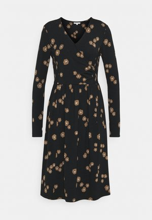 EVERLY WRAP DRESS - Jersey dress - black