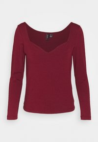 Vero Moda - VMPANDA SWEETHEART - Long sleeved top - cabernet - 0