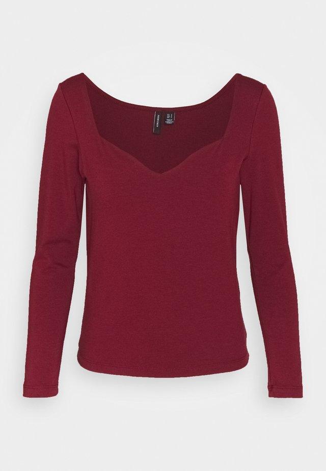 VMPANDA SWEETHEART - Camiseta de manga larga - cabernet
