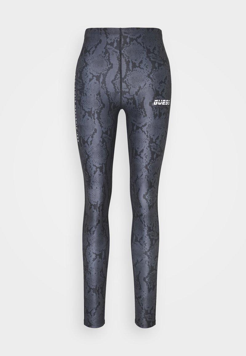 Guess - LEGGINGS - Leggings - grey/black