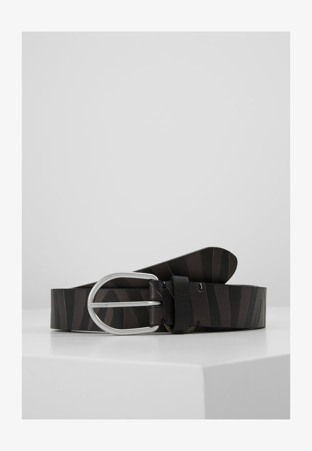 BELT ZEBRA STRIPE - Belt - black