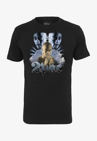 Mister Tee - TUPAC HEAVEN TEE - Print T-shirt - black - 0