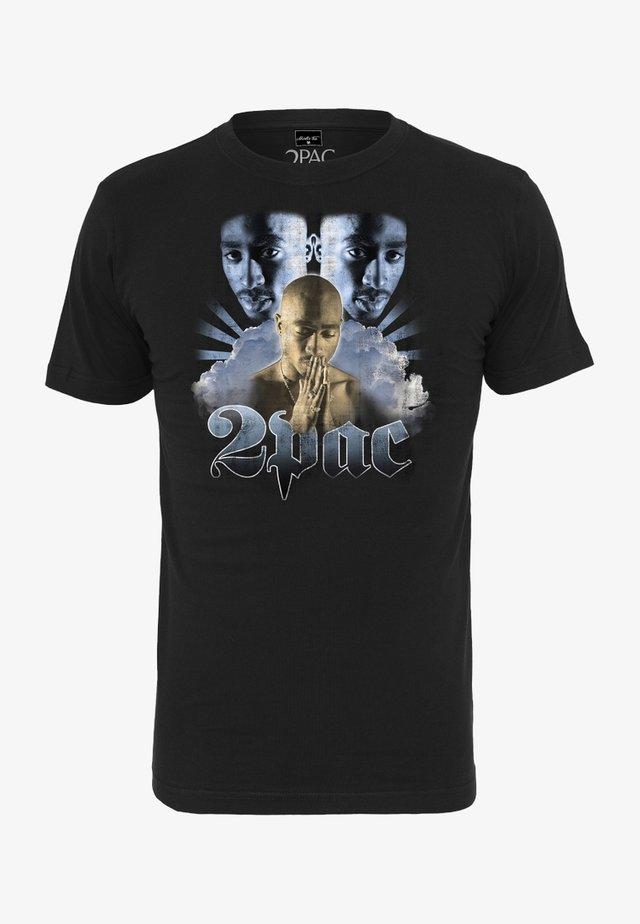 TUPAC HEAVEN TEE - Print T-shirt - black