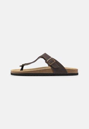 UNISEX - T-bar sandals - brown