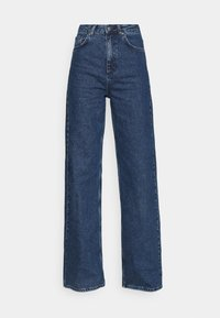 NU-IN - STEFANIE GIESINGER X nu-in HIGH WAIST EXTRA LONG LOOSE FIT JEANS - Relaxed fit jeans - mid blue wash - 3