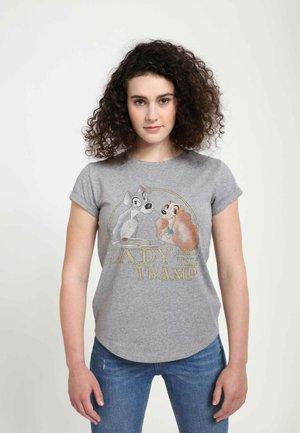 DISNEY CLASSICS TRAMP SPAGHETTI  - T-shirt print - melange grey