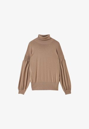 WITH GATHERED DETAIL - Jumper - beige
