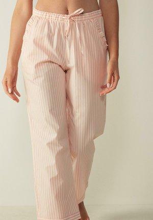 Pyjama bottoms - rosa/ecru