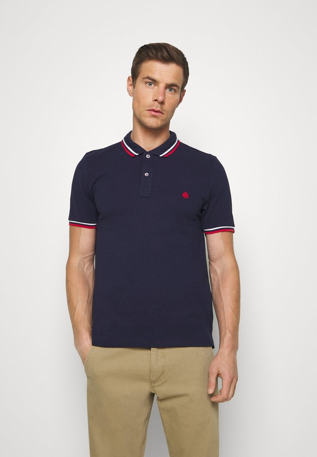 PIPING - Polo - dark blue