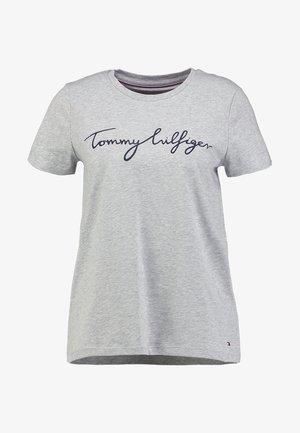 HERITAGE CREW NECK GRAPHIC TEE - T-shirt con stampa - light grey heather