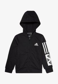 adidas Performance - Sweat à capuche zippé - black/white - 3