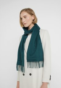 Johnstons of Elgin - 100% Cashmere Scarf UNISEX - Sjaal - hunter green - 1