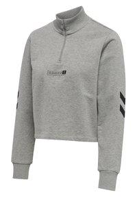 Hummel - HMLLGC NIKKA CROPPED - Strikpullover /Striktrøjer - grey melange - 4