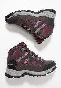 Hi-Tec - BANDERA LITE MID WP WOMENS - Hiking shoes - charcoal/amaranth/light grey - 1
