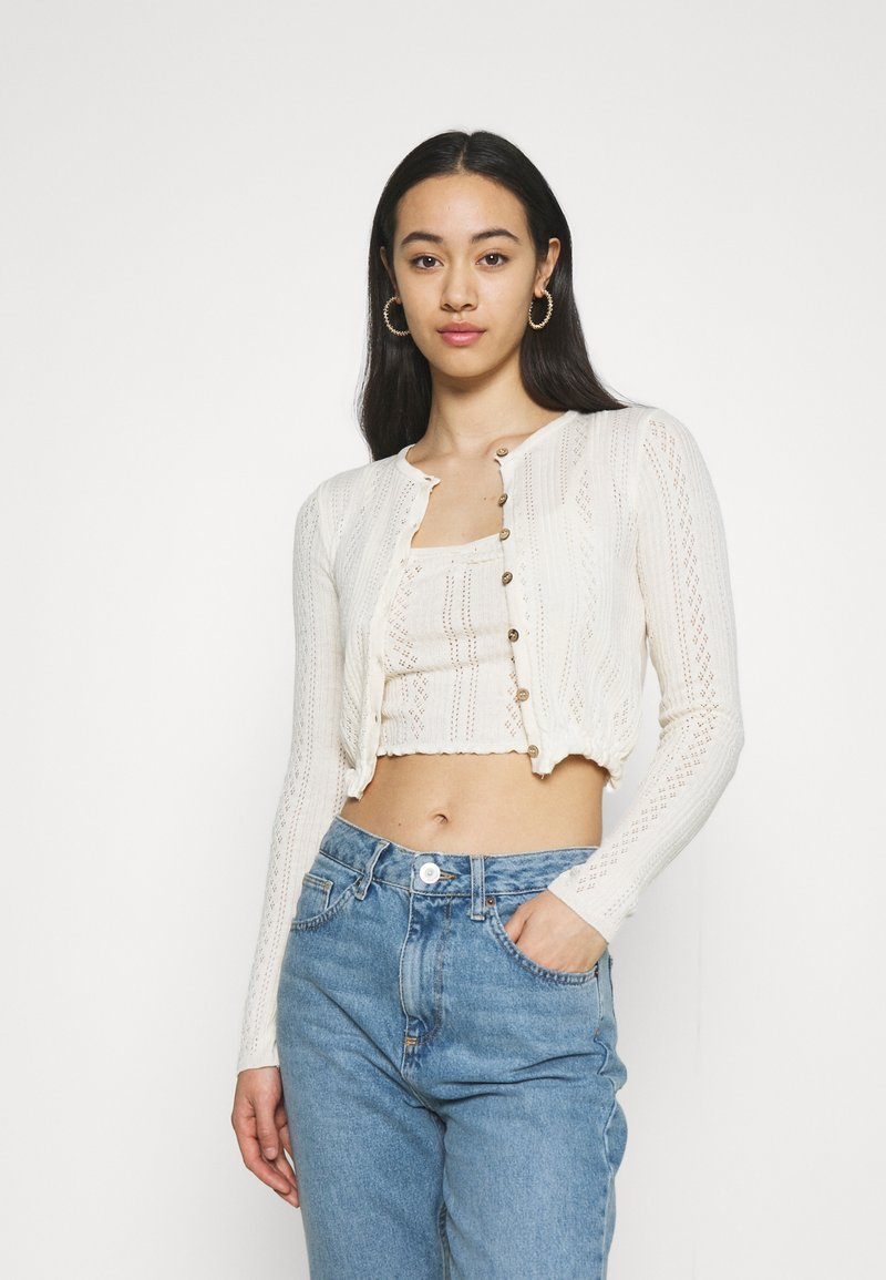 BDG Urban Outfitters - TWIN SET - Cardigan - cream
