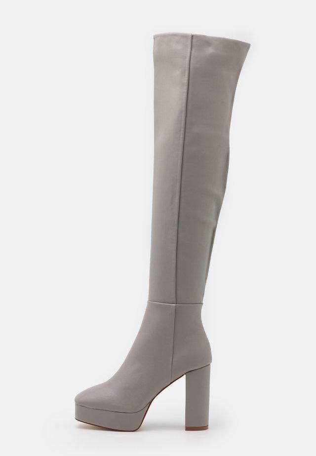 CAROLINA - High heeled boots - grey