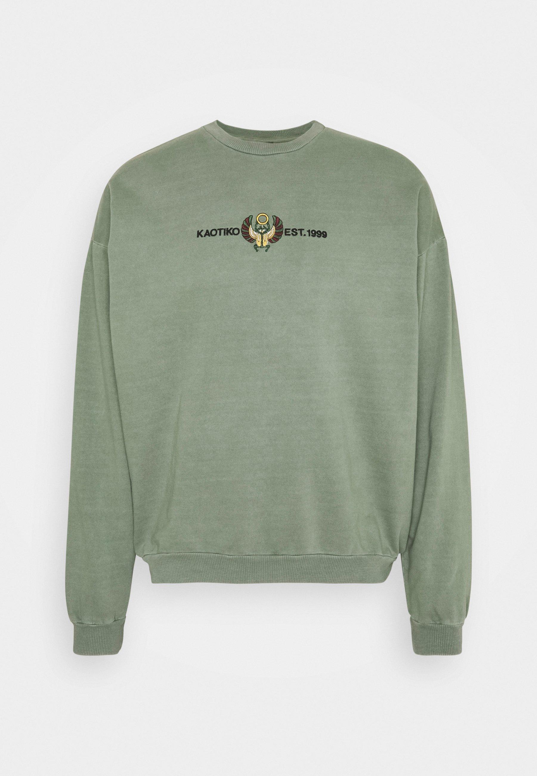 Men CREW WASHED BEETLE ARMY - Zip-up sweatshirt